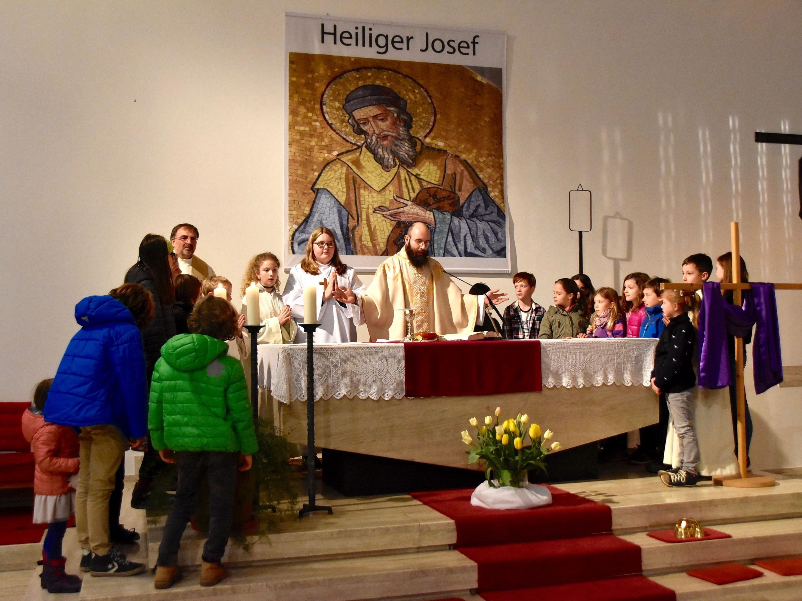 Pfarrgottesdienst in der Pfarrkirche Gantschier am frühen Samstagabend