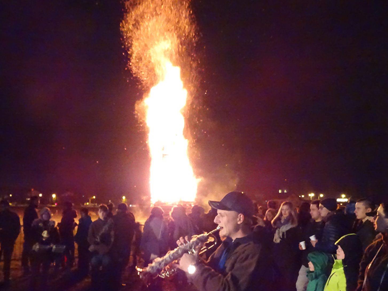 Nach dem imposanten Klangfeuerwerk brannte Schwefler Spältafunken lichterloh.