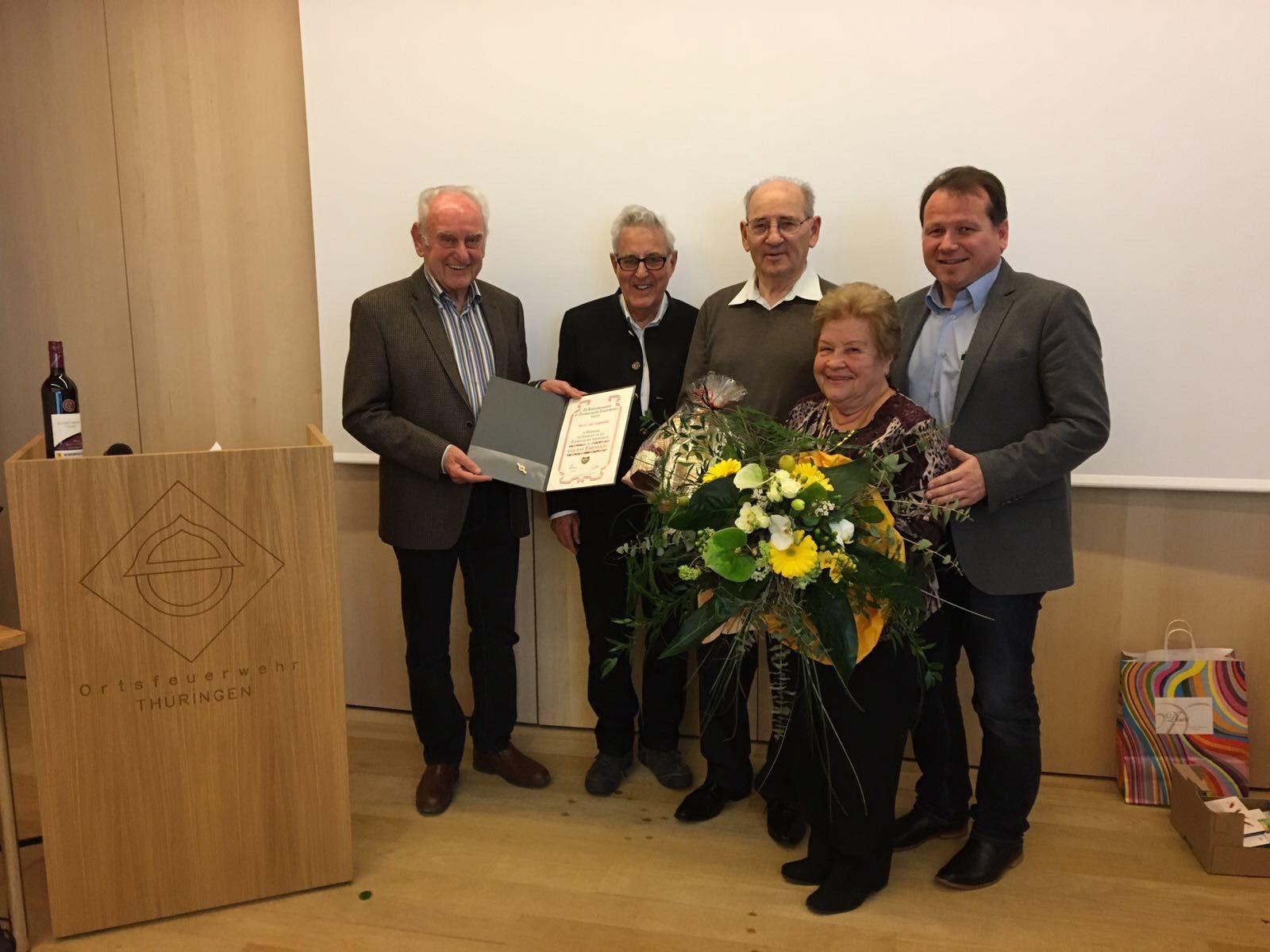 Goldene Ehrennadel für Luis Caldonazzi