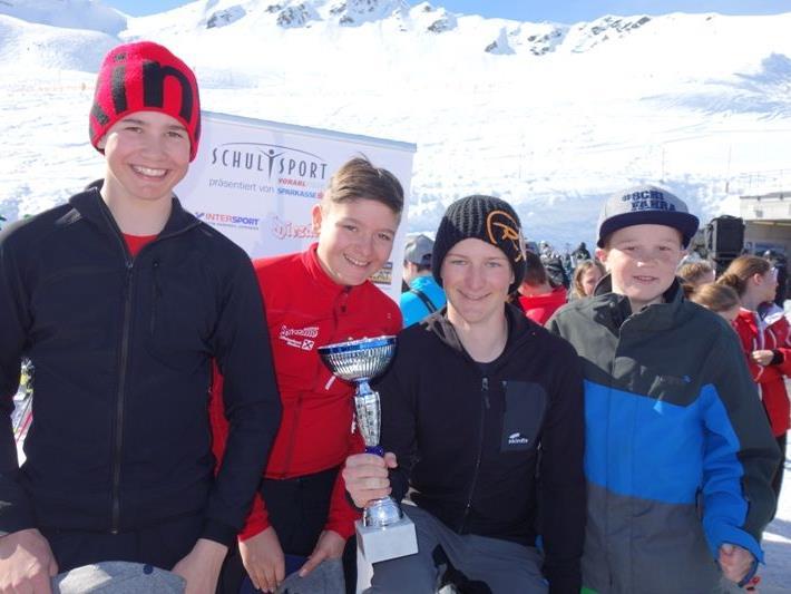 Die siegreichen Skicrosser von der SMS Nenzing.