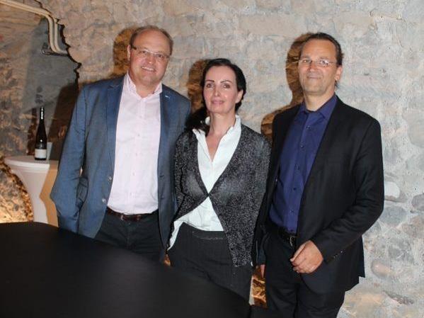 Bgm. Elmar Rhomberg, Marlene Arnoldi und Ernst Mussmann.