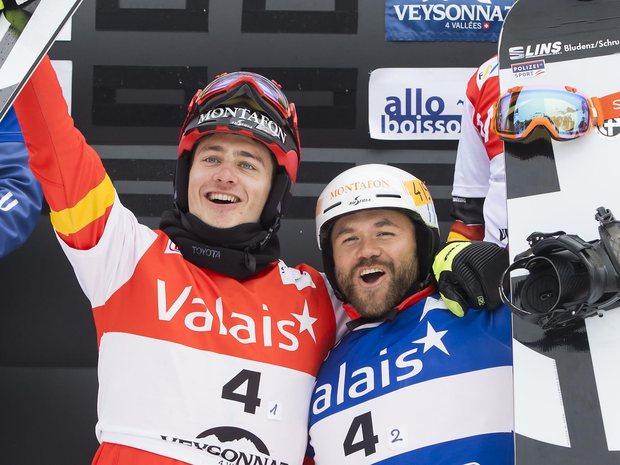 Die Vorarlberger Alessandro Hämmerle und Markus Schairer konnten den Teambewerb für sich entscheiden.