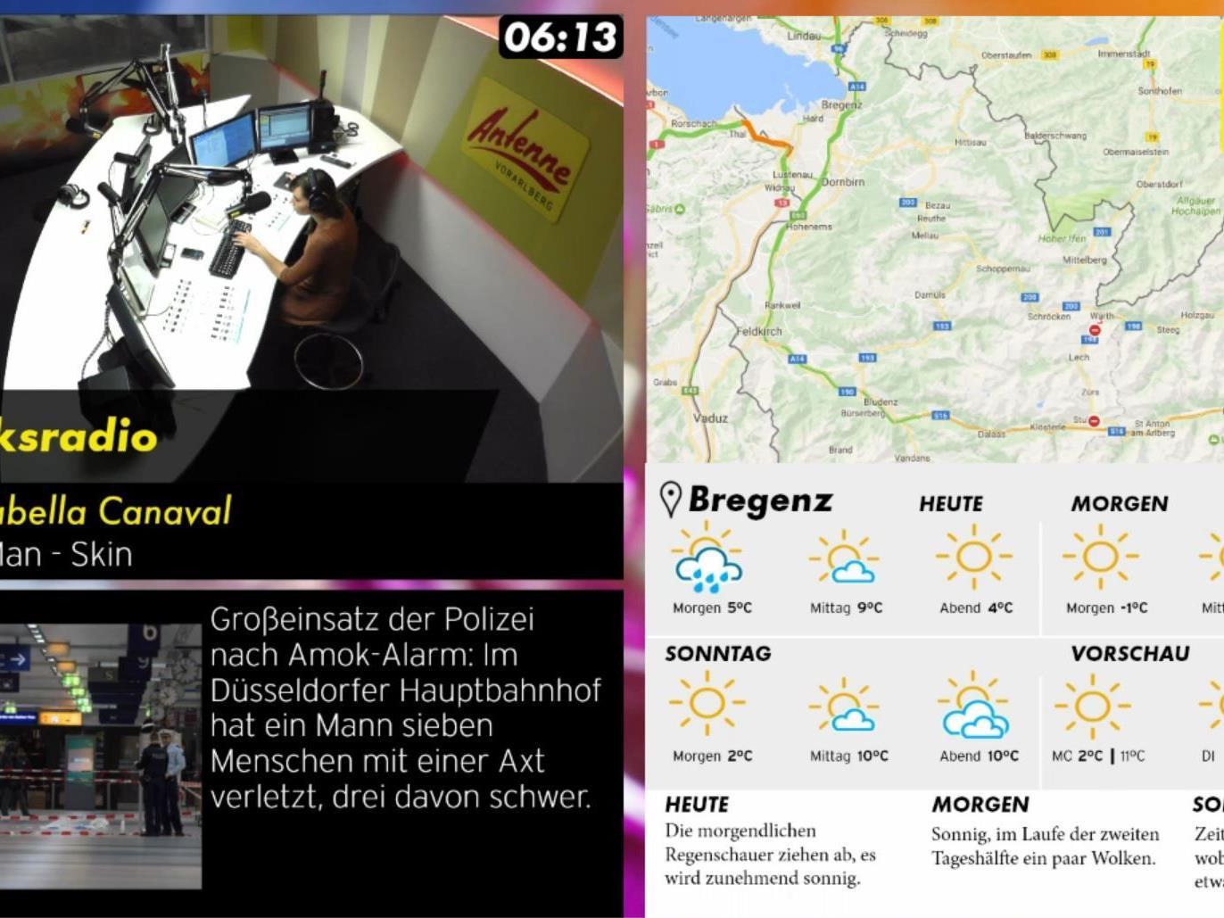 Visual Radio bei Antenne Vorarlberg.