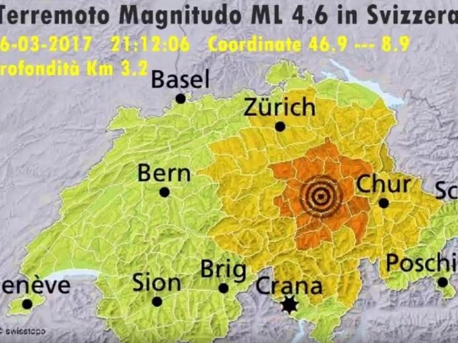 In der Zentralschweiz war das Beben am stärksten.