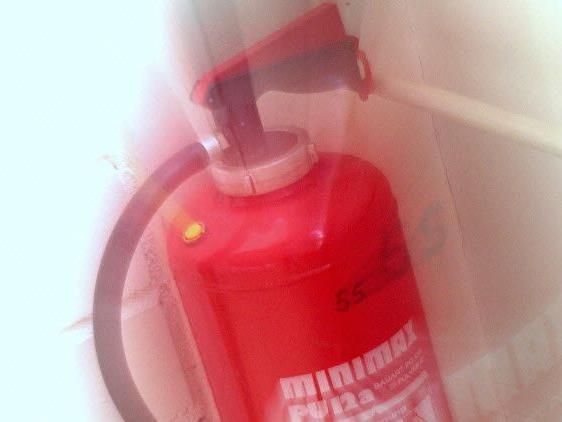 Der Brand wurde von einem Mitglied der Feuerwehr Thüringen mittels Feuerlöscher gelöscht