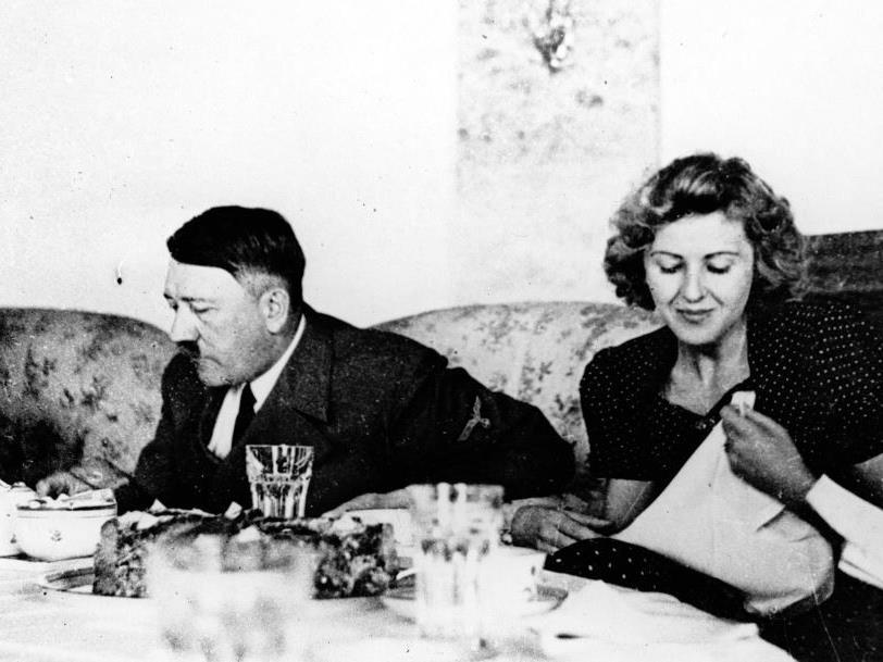 Adolf Hitler und Eva Braun.