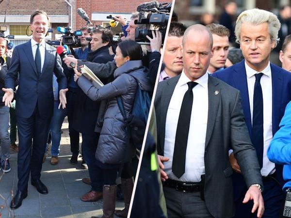 Der Rechtspopulist Geert Wilders (rechts) muss sich Premier Mark Rutte (links) bei den niederländischen Parlamentswahlen geschlagen geben.