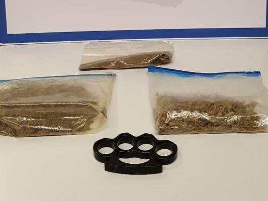 Diese Dinge wurden bei dem Verdächtigen sichergestellt.