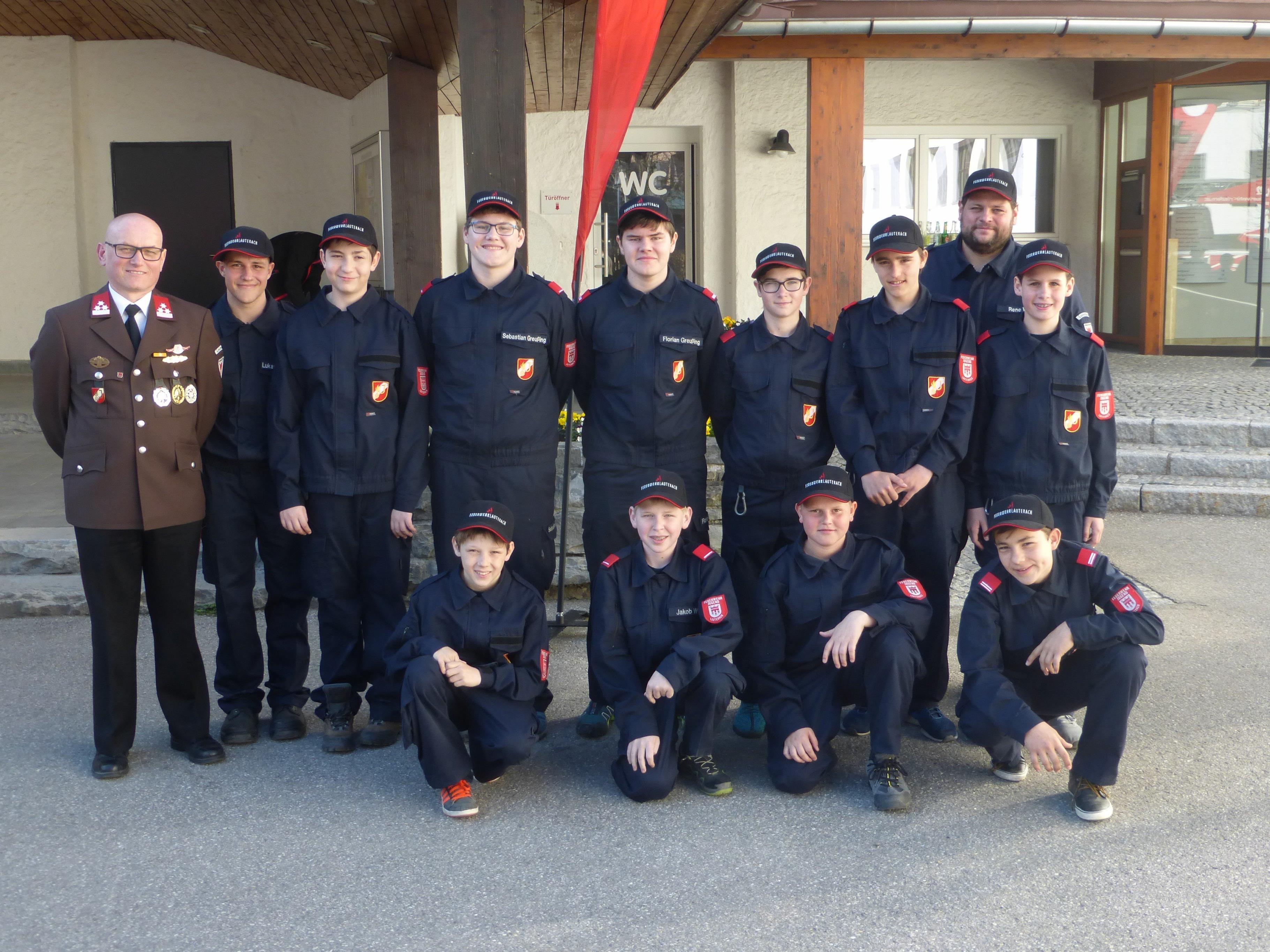 Die Lauteracher Teilnehmer am diesjährigen Wissenstest der Feuerwehrjugend