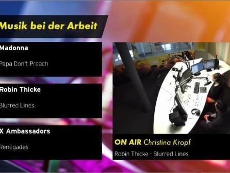 Live dabei im Studio beim Antenne Vorarlberg Programm