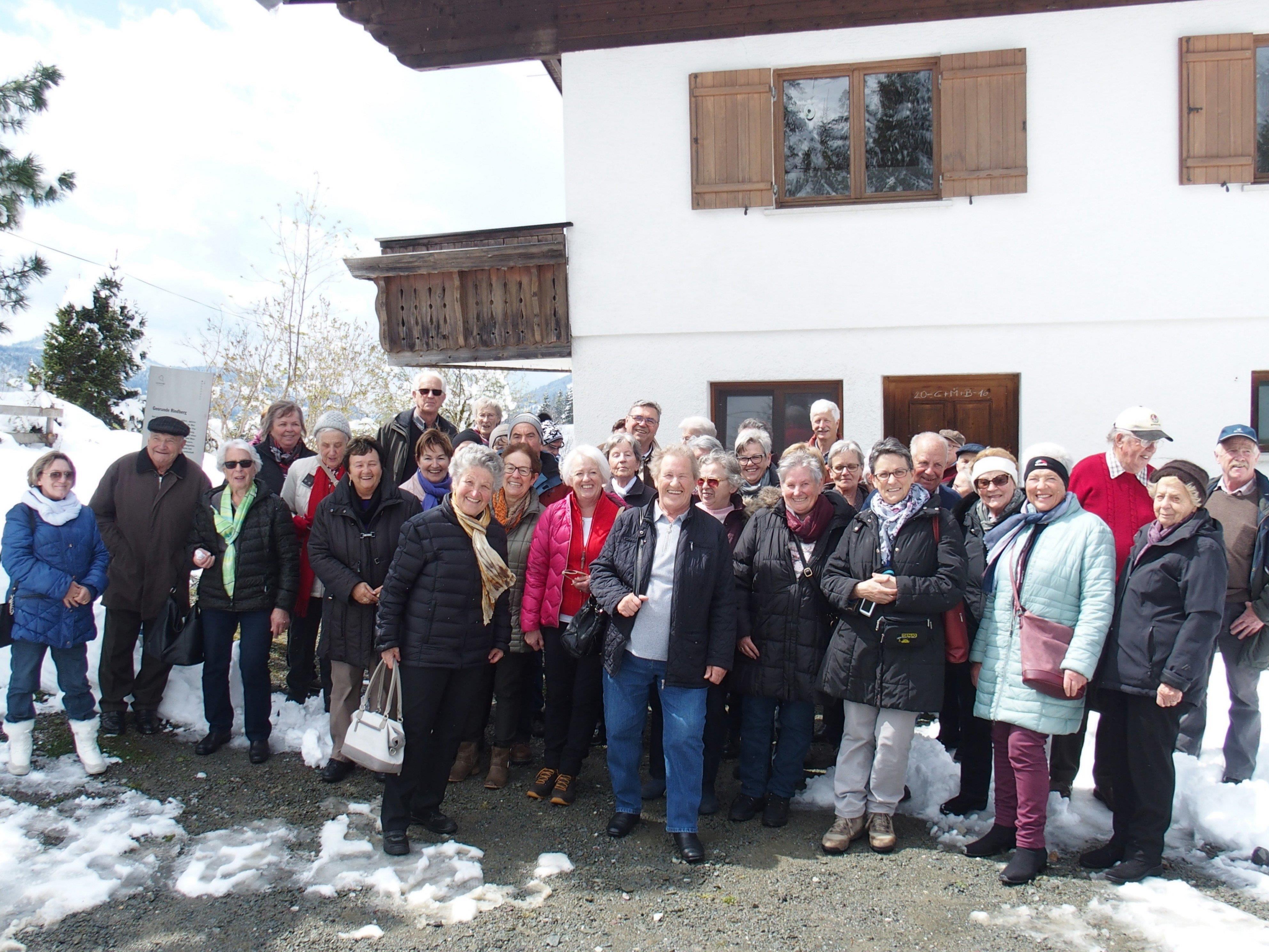 Ausflug Seniorenbund Sulz-Röthis zum Felberhaus in Sibratsgfäll