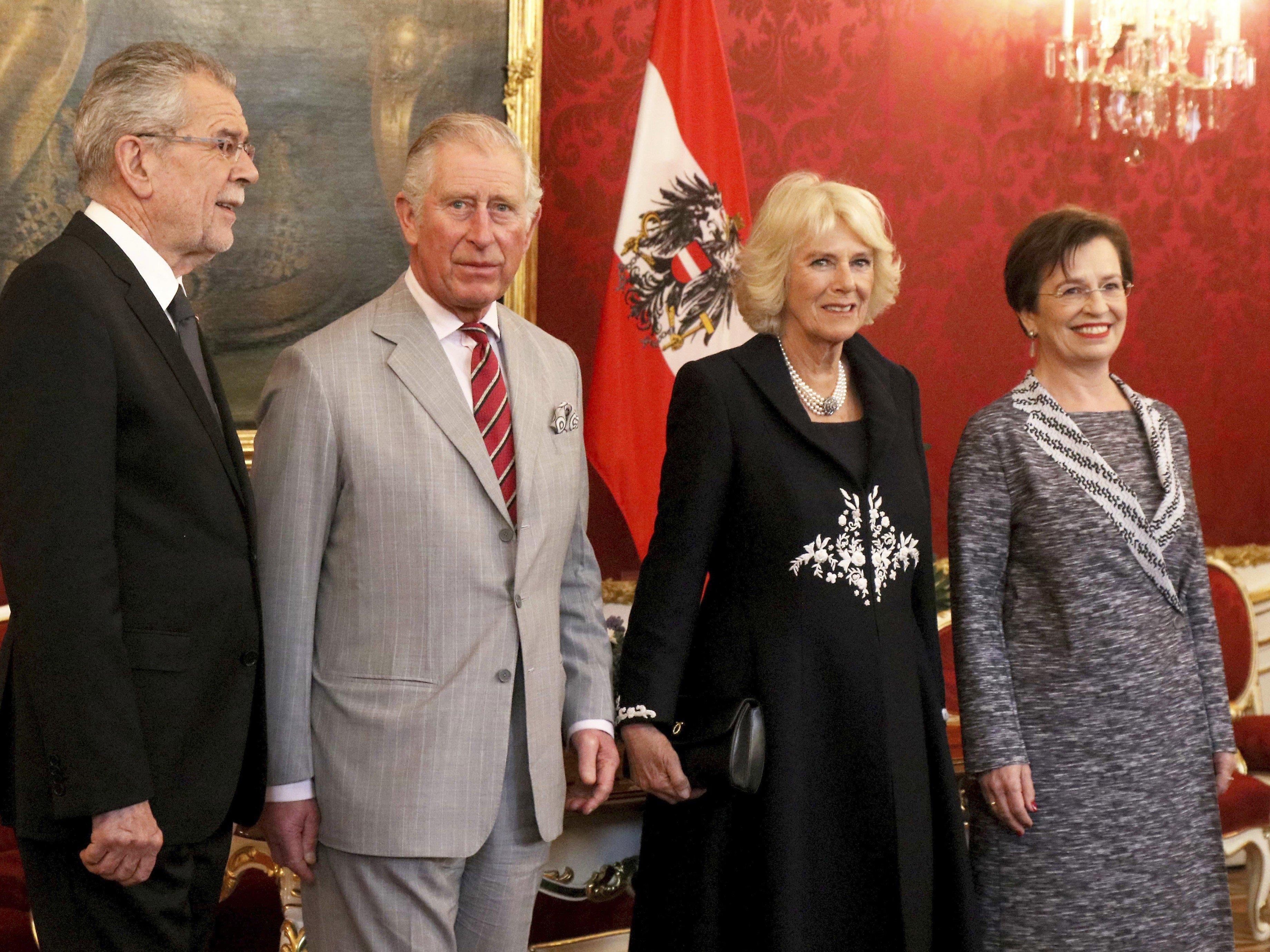So lief das Treffen zwischen Prinz Charles und Bundespräsident Van der Bellen ab.