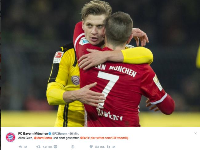 Die Reaktion des FC Bayern München.