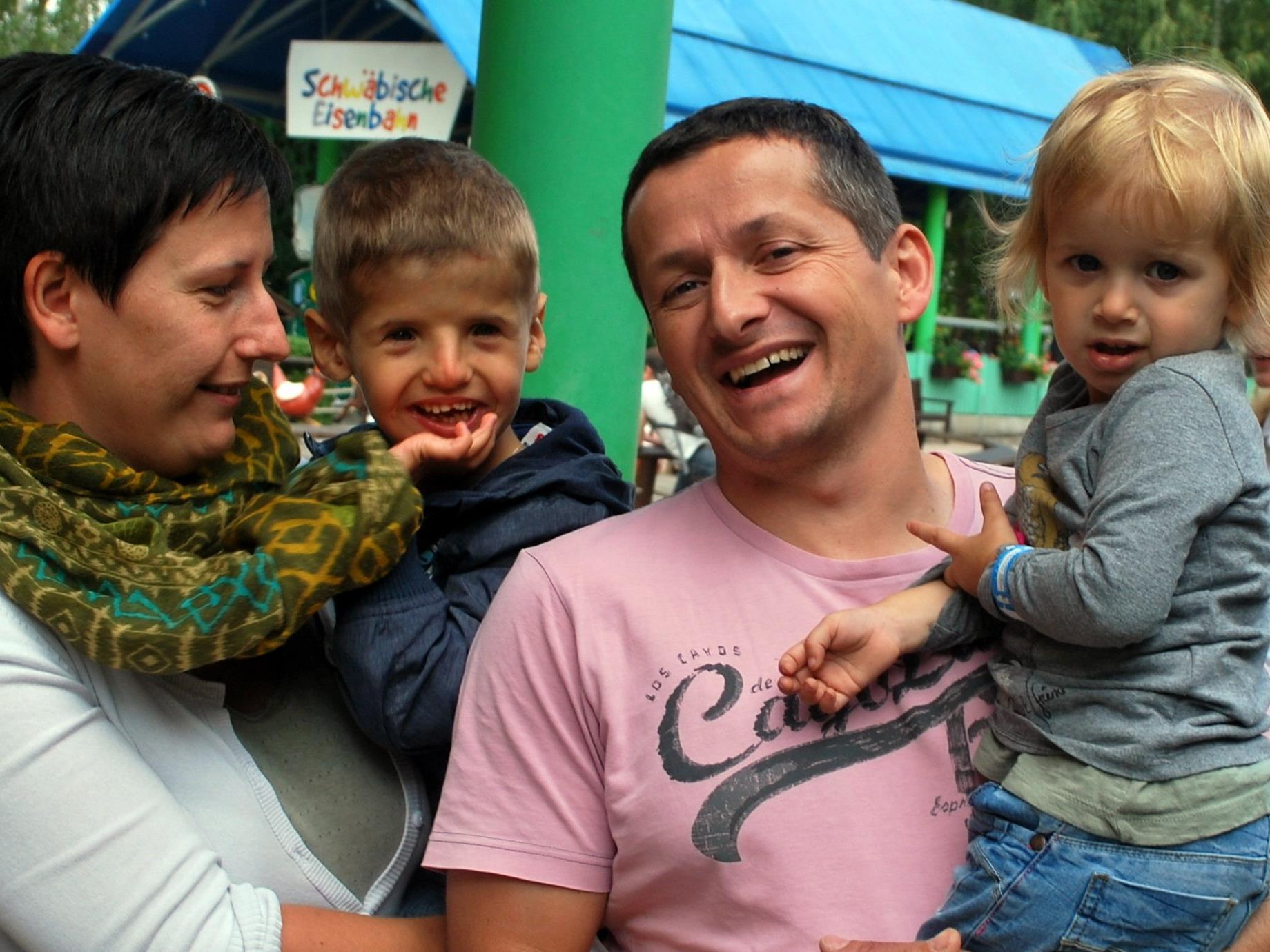 Sabine, Luca, Markus und Anna Bleiker