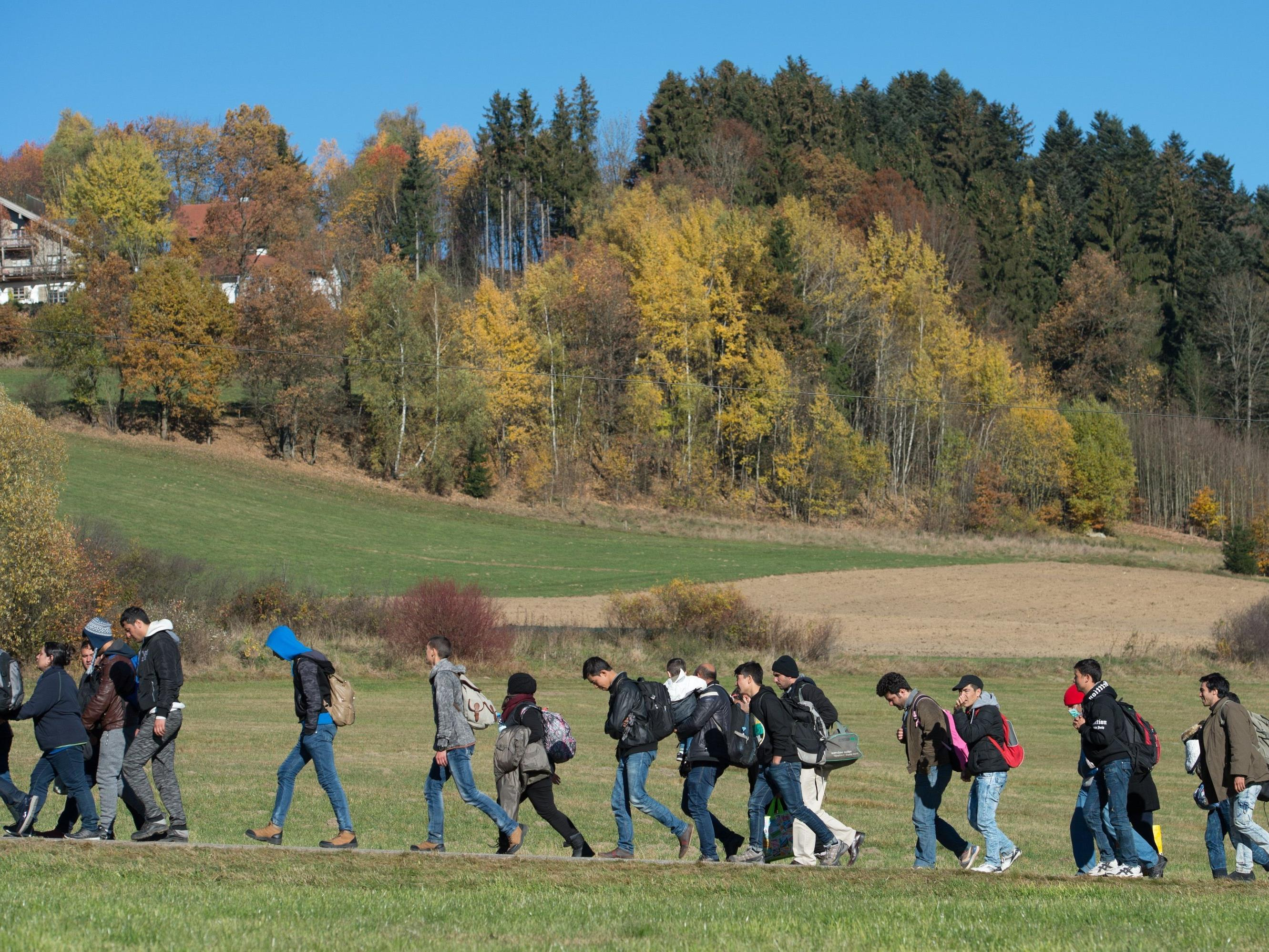 Der Flüchtlingsstrom in Vorarlberg ebbt deutlich ab.