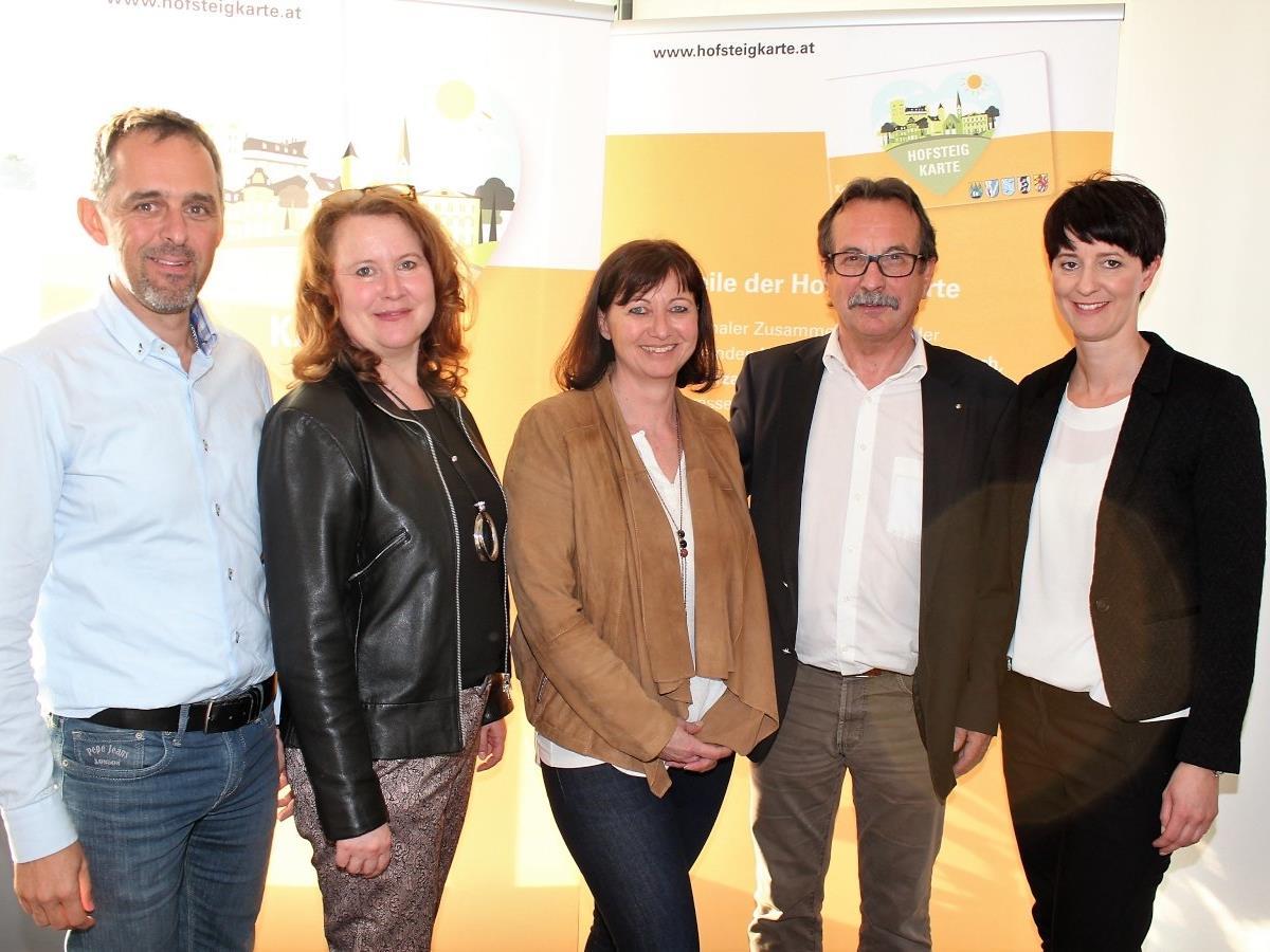 Gerald Klocker, Michaela Sutter, Carmen Hagen, Walter Eberle und Sandra Mager.