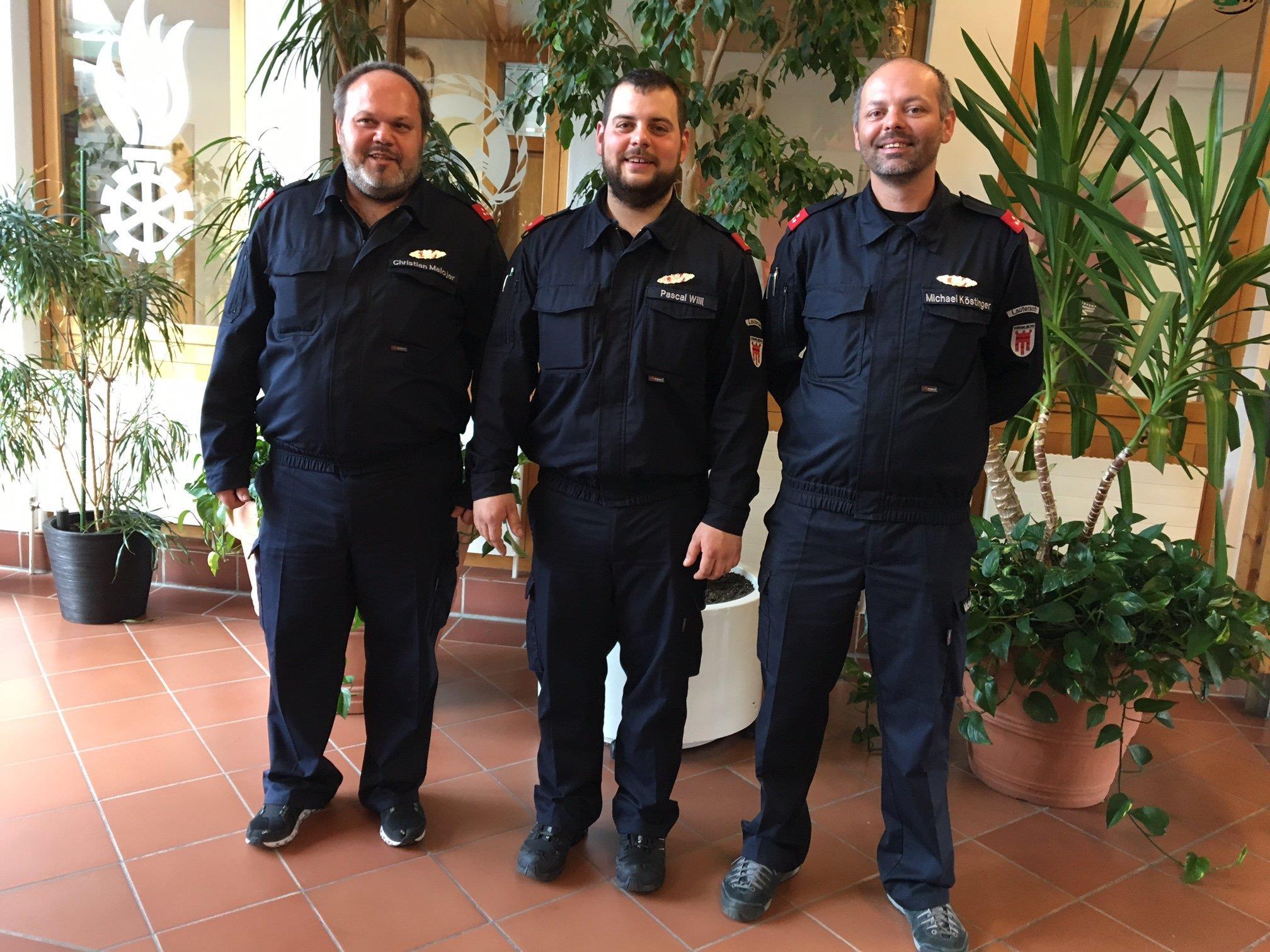 Die erfolgreichen Teilnehmer der Feuerwehr Lauterach am Funkleistungswettbewerb