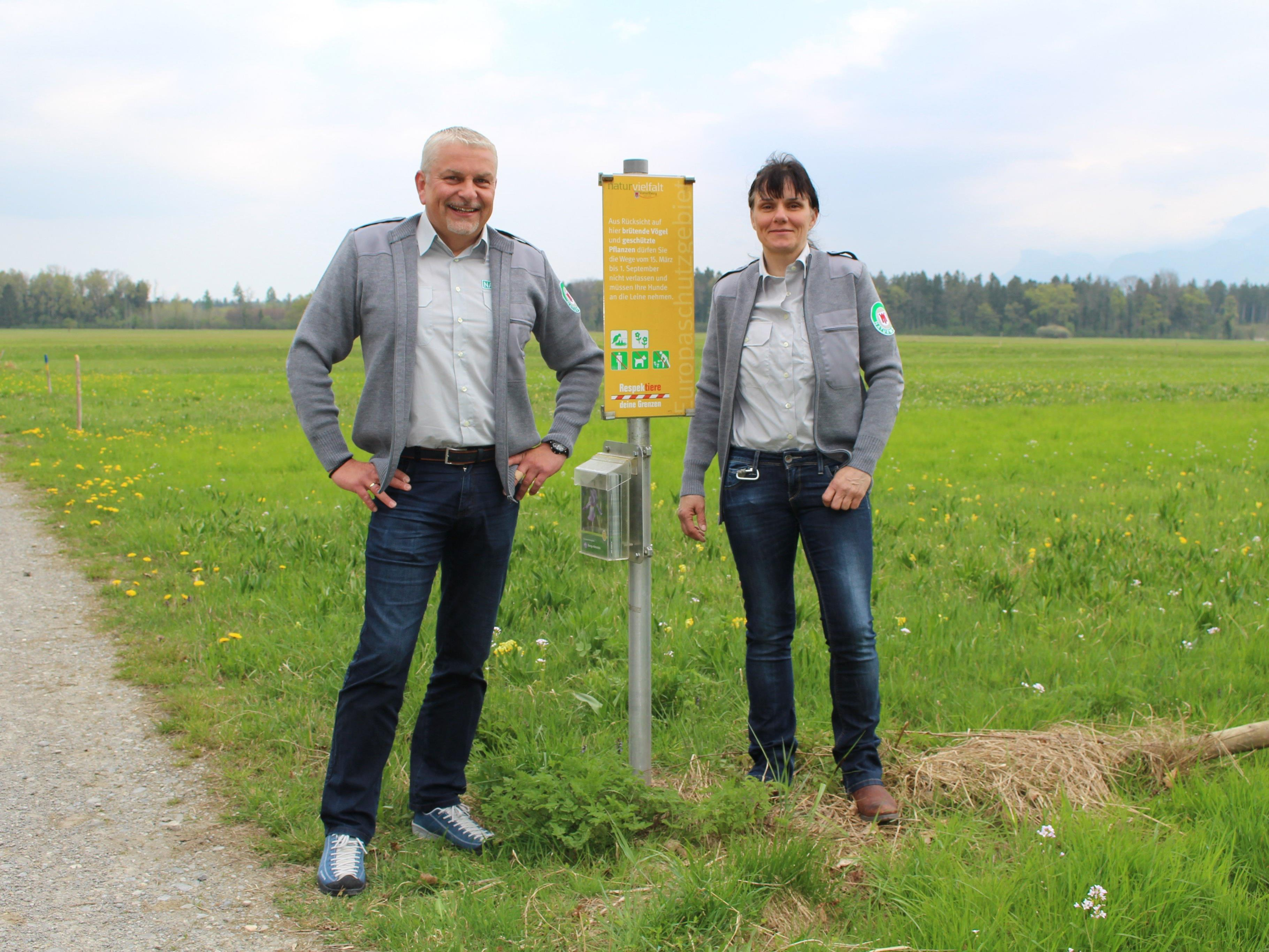 Naturwacht Feldkirch setzt auf Aufklärung über die Naturvielfalt im Schutzgebiet und Kontrollgänge.