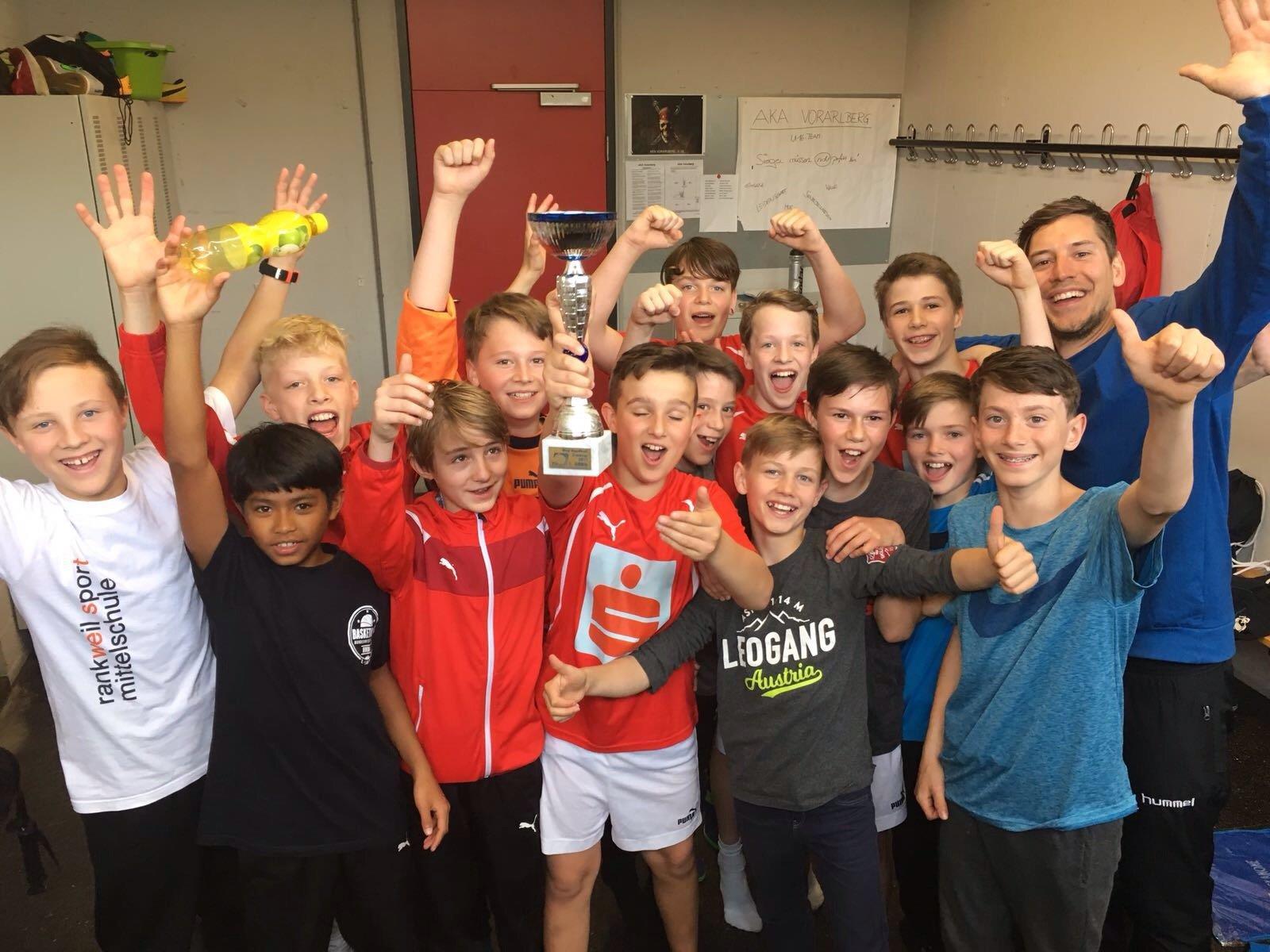 SMS Rankweil West holt Gold und Silber im Mini Handballcup