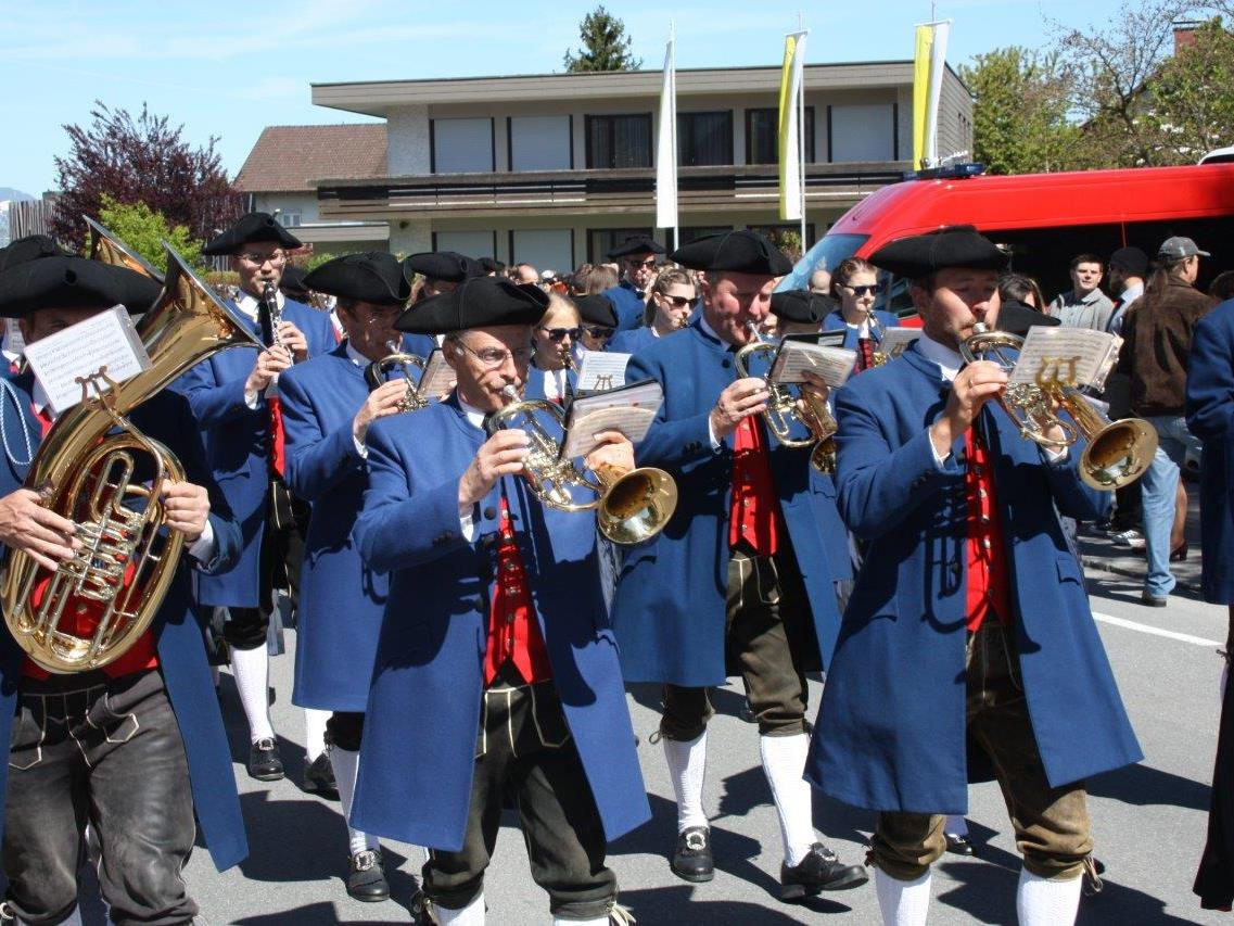 Die Bürgermusik Rankweil marschierte durch die ganze Gemeinde