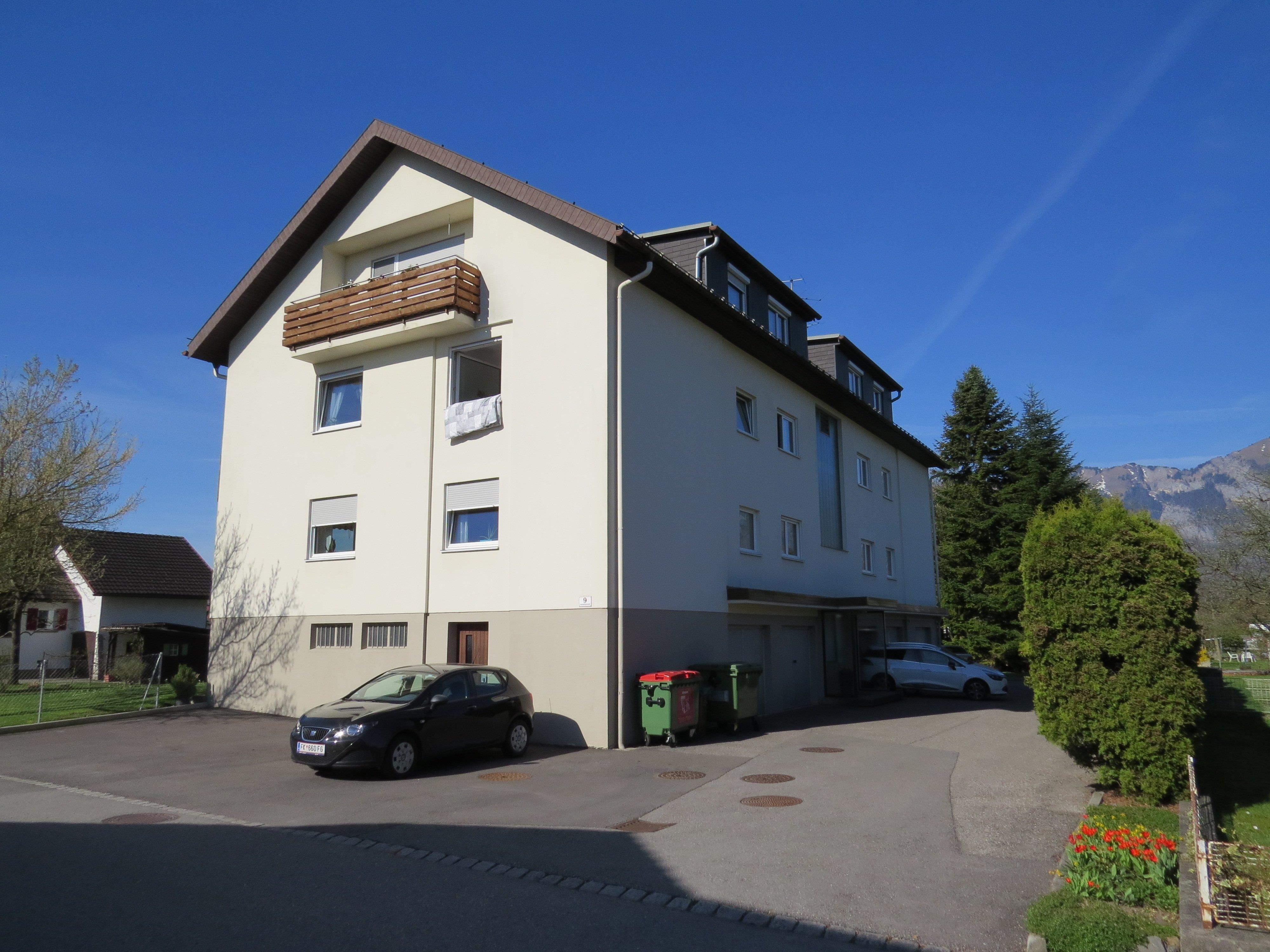 """Das erste und einzige """"Hochhaus"""" im Feldkircher Ortsteil Nofels befindet sich in der Gemeindegutstraße."""