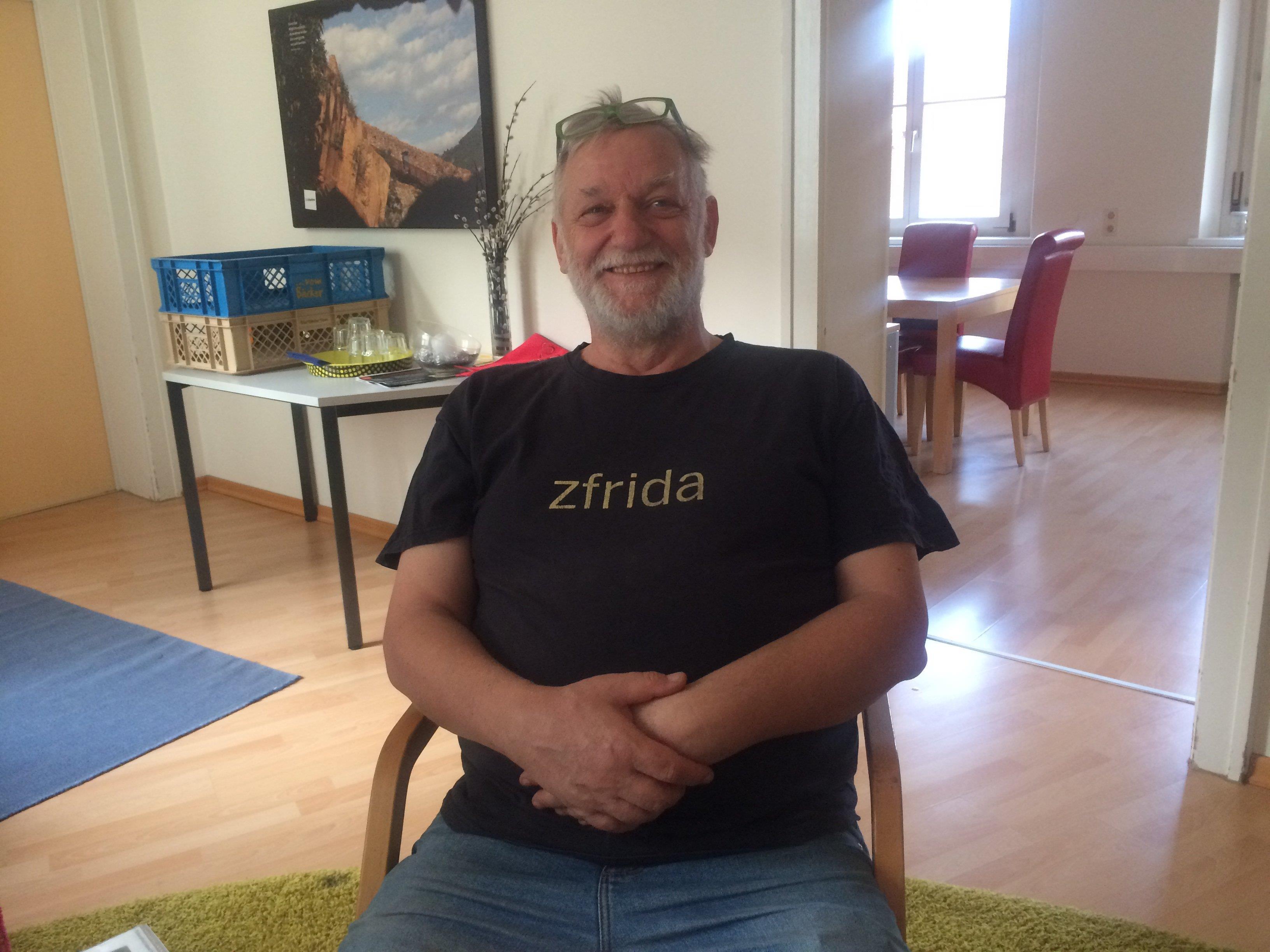 """""""zfrida"""" ist Autor Dieter Koschek, Mitarbeiter von """"Gestalte die Zukunft"""""""