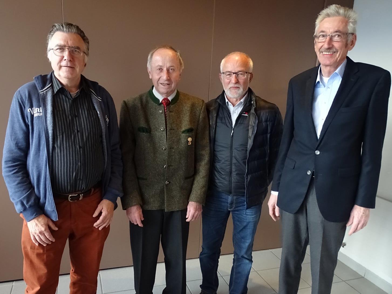 Der neue Obmann Werner Drexel mit Heinz Broger, Bernhard Wulz und Walter Sabata (v.r.).