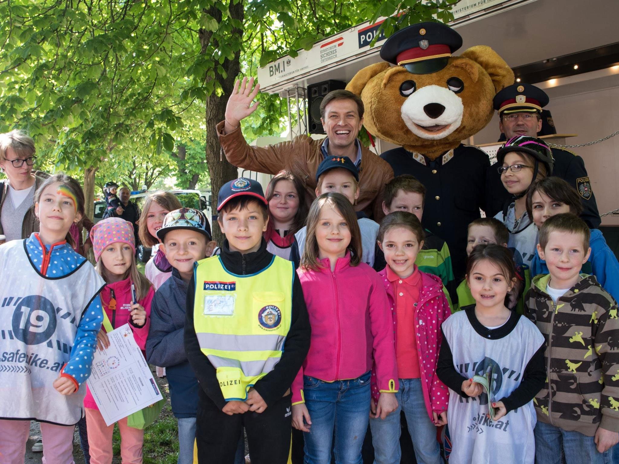Die Kinderpolizei lädt in den Prater zum großen Event