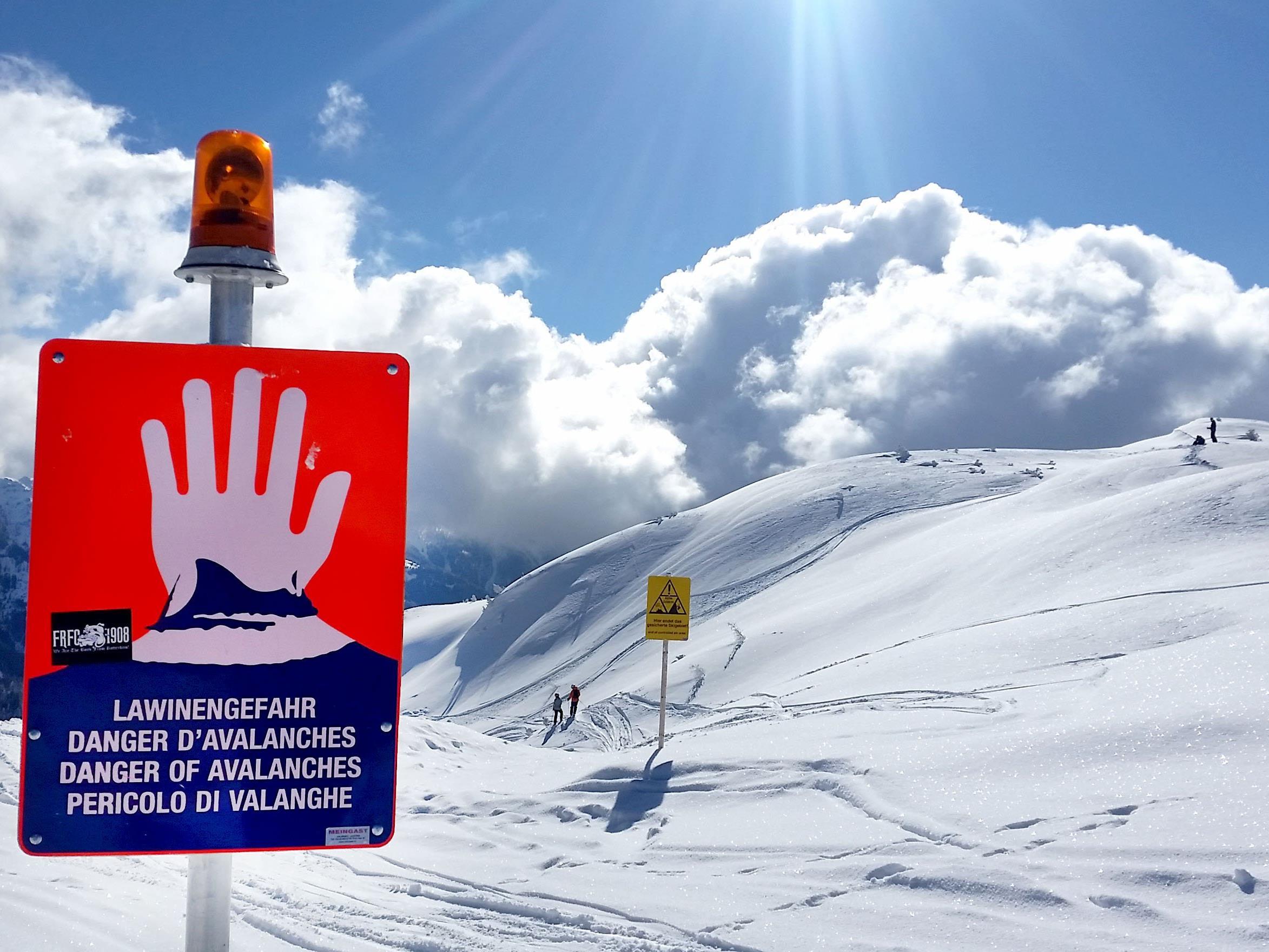 Beide Wintersportler blieben unverletzt.