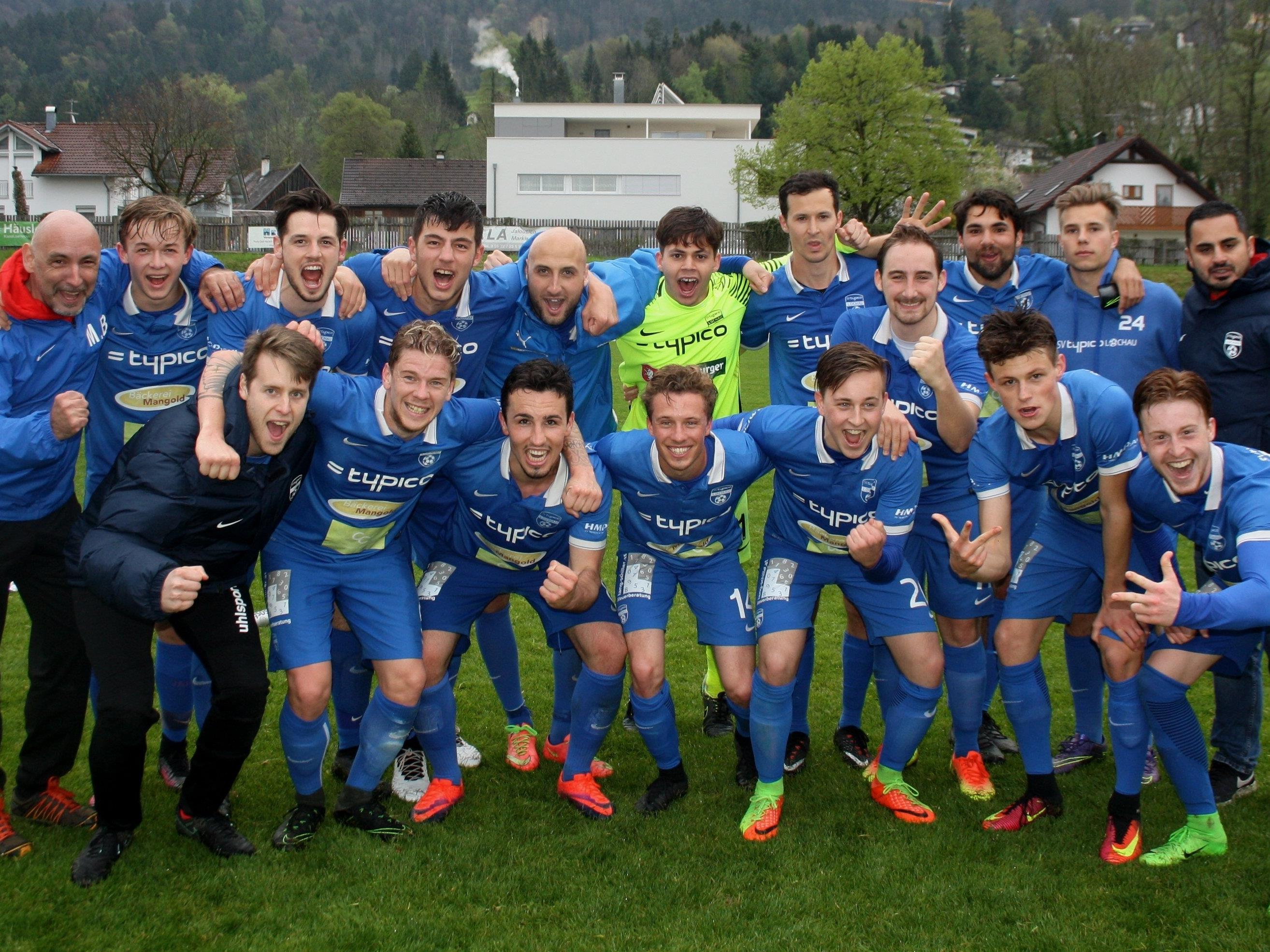Jubelstimmung beim SV Typico Lochau: Fünf Spiele – 15 Punkte – Tabellenplatz 3 in der Landesliga. Die Lochauer sind im Frühjahr immer noch ungeschlagen.