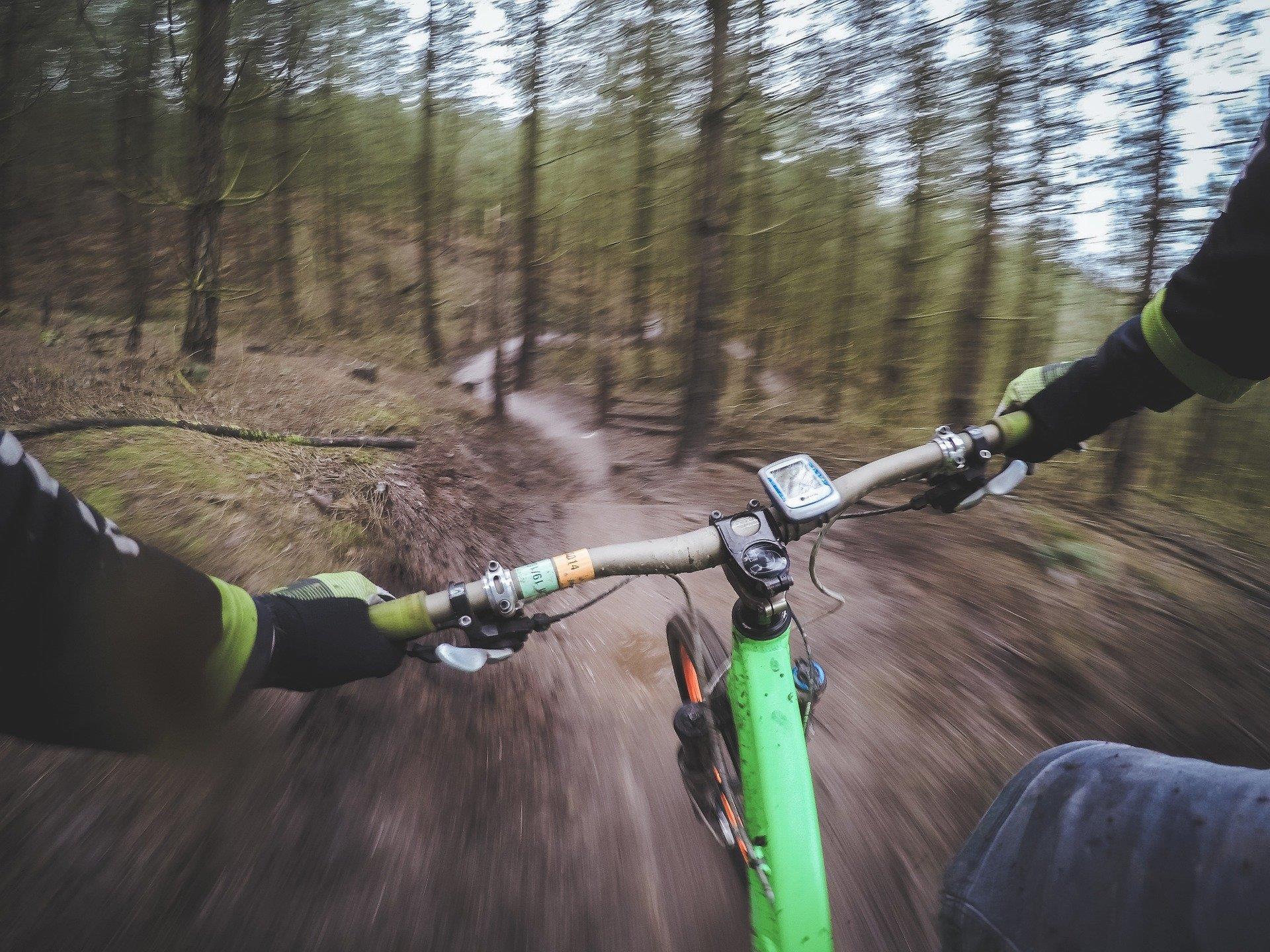 Mountainbiker haben die Gelegenheit, am Kahlenberg Drahtesel zu testen