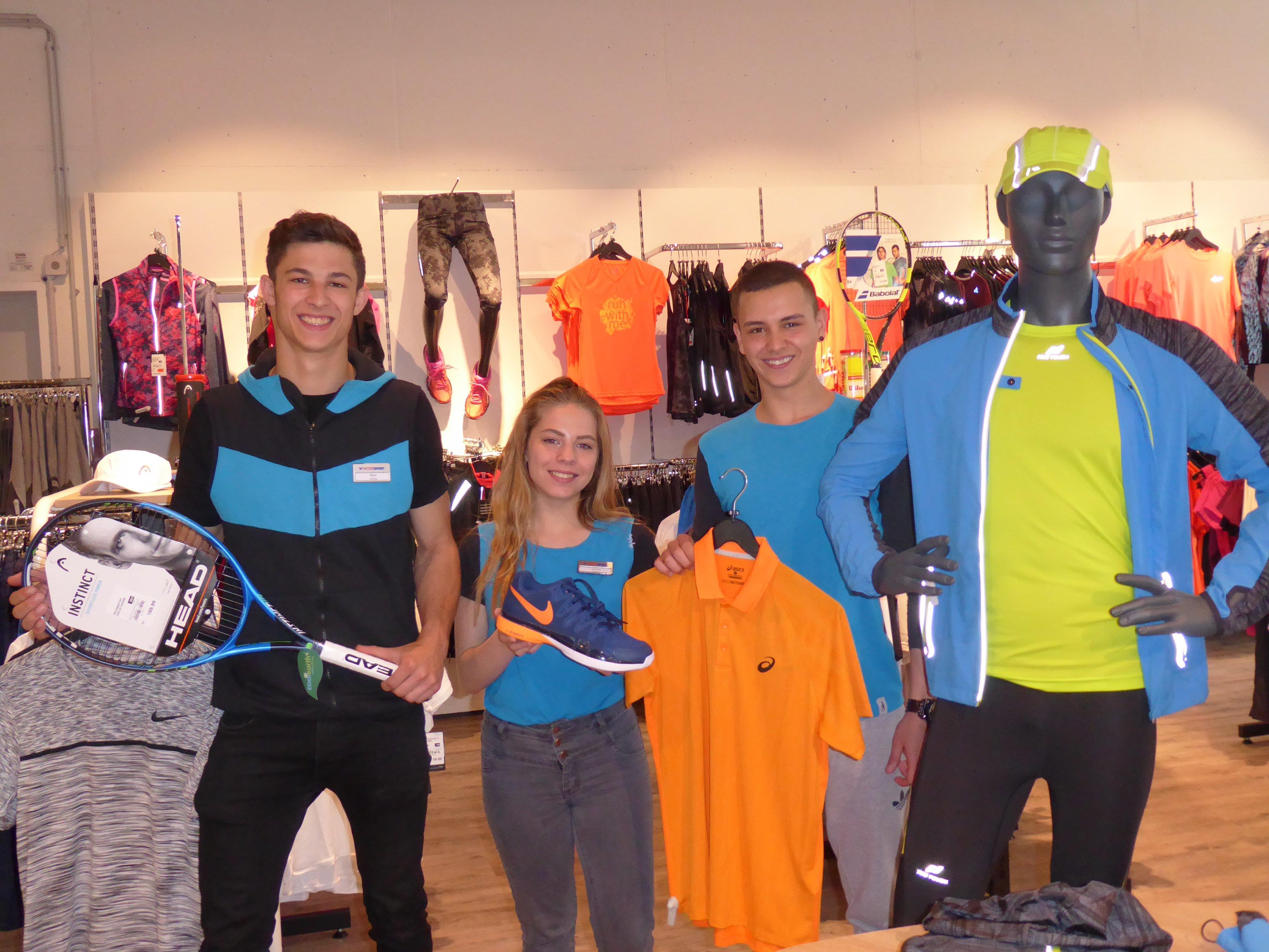Max, Janine und Robert sind mit ihrer Ausbildung im Sportfachhandel am Puls der Zeit.