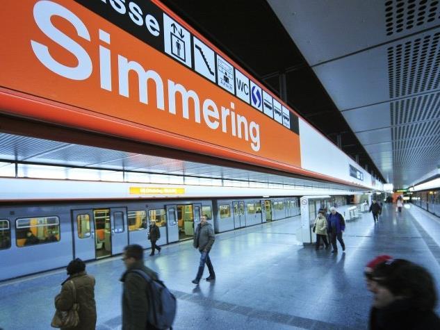In der U3-Station Simmering kam es zu einem Zwischenfall