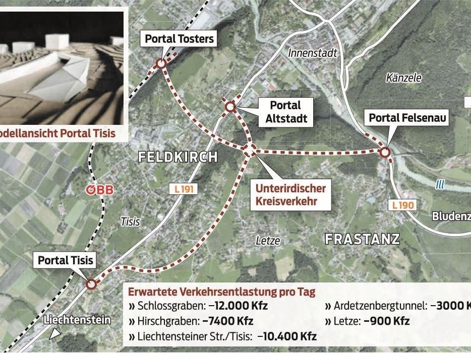 Das Tunnelgroßprojekt in Feldkirch.