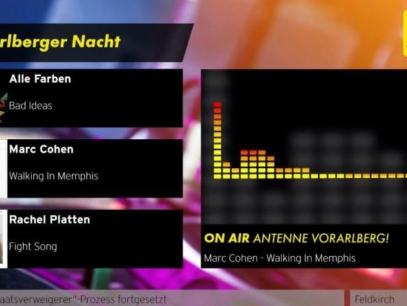 Antenne Vorarlberg im Visual Radio.