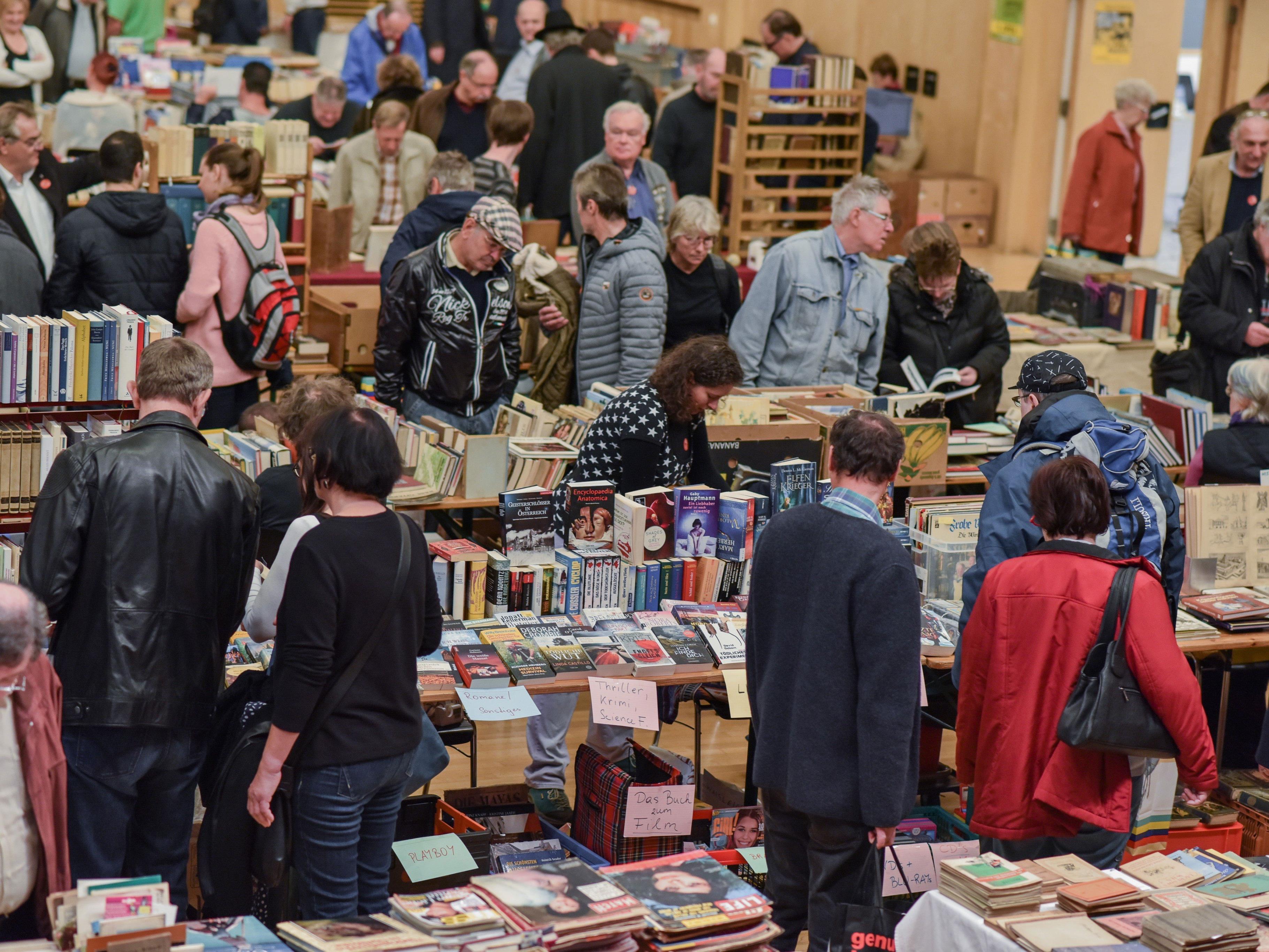 Beim BuchMarkt Wien herrscht stets reges Treiben