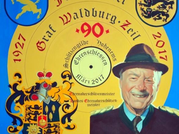 Ehrenschießen zu Ehren von Franz-Josef Waldburg-Zeil