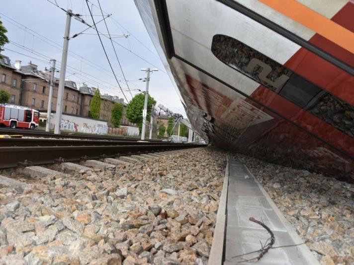 Kollision zweier Züge im Bahnhof Wien-Meidling.
