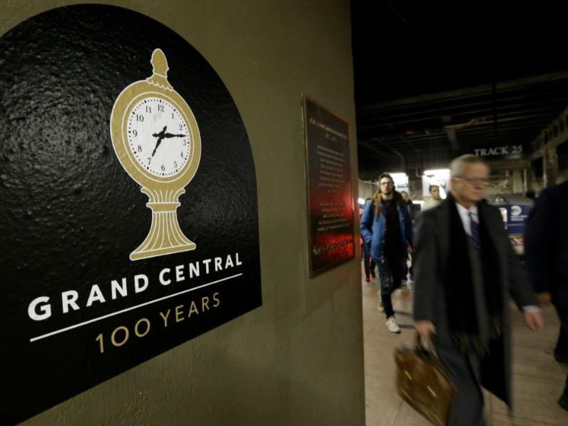 Geheimer Bahnsteig in der Grand Central Station.