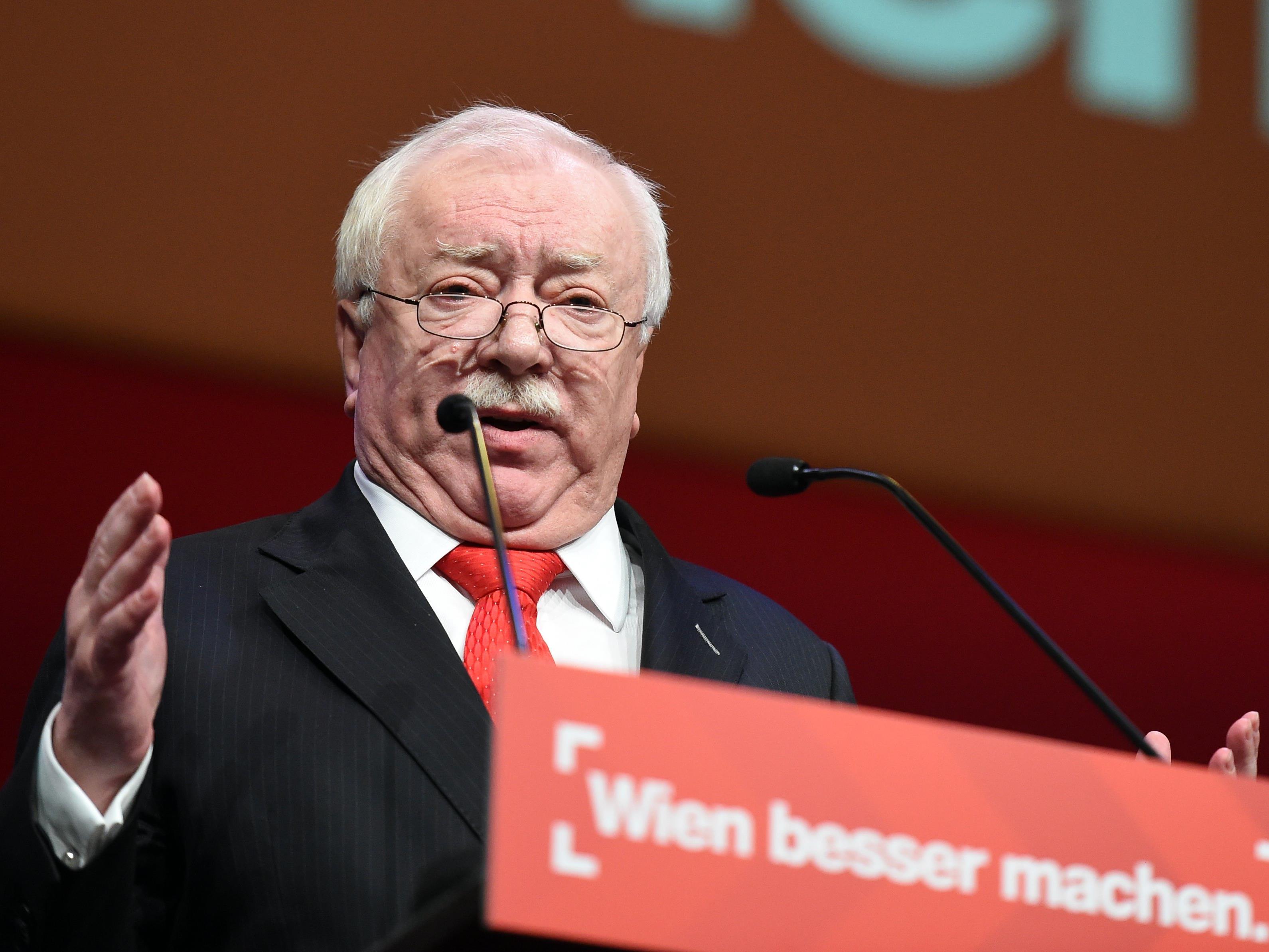 Wiens Bürgermeister Michael Häupl beim SPÖ-Parteitag