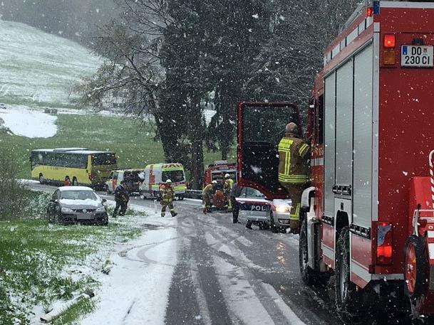 Schwerer Unfall in Dornbirn-Kreuzen