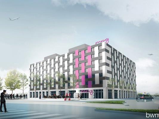 Das Moxy-Hotel in der Airport City Vienna wurde eröffnet.