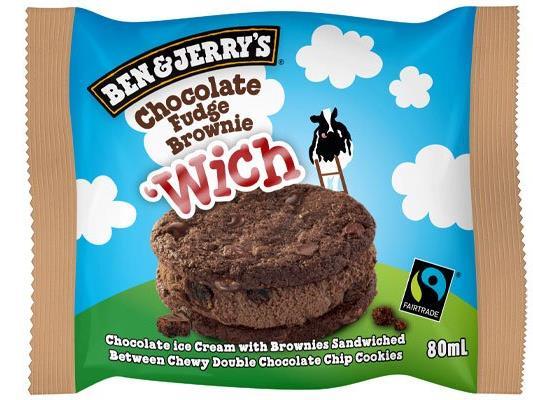 Dieses Jahr bekommen die Eisfans den ganz neuen Ben & Jerry's `Wich Chocolate Fudge Brownie