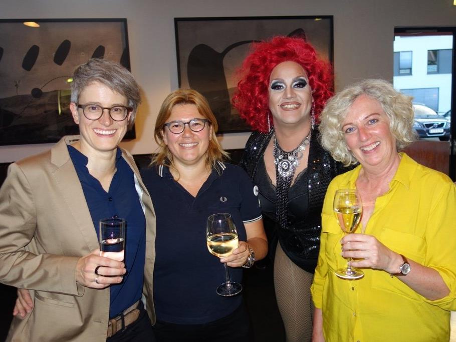 Corinne Scherrer, Michaela Ella Holzer, Miss Misery Myazz und Katharina Wiesflecker feierten mit.