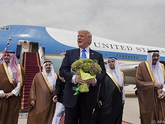 Trump wurde von König Salman empfangen