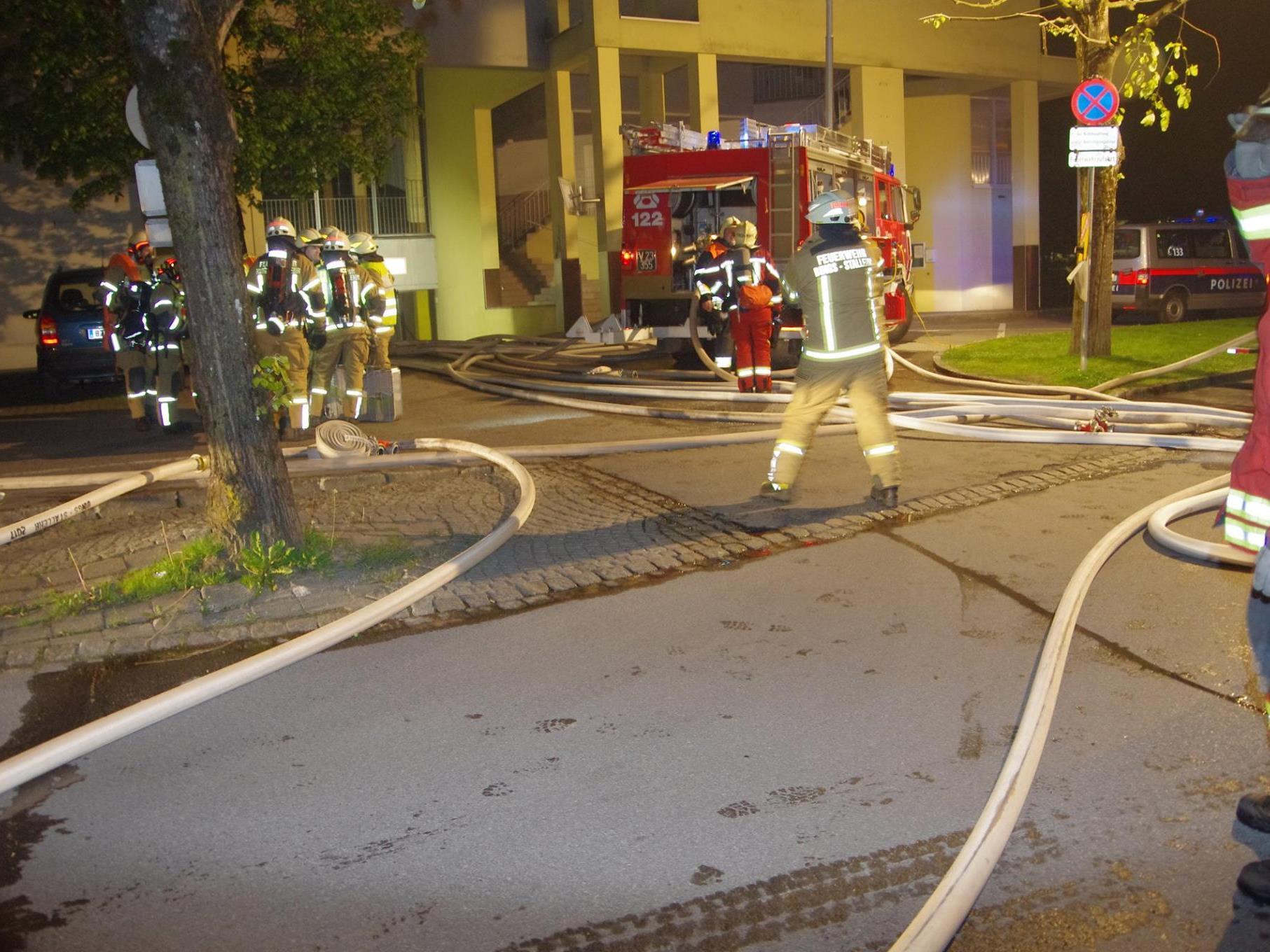 Feuerwehr im Großeinsatz.