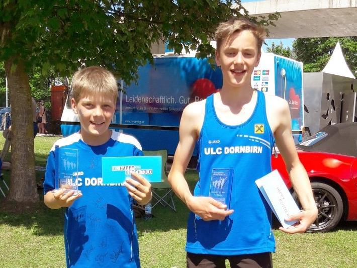 Schnellste Montforter über 600m: Michael Gantner und Jonas Fuchs