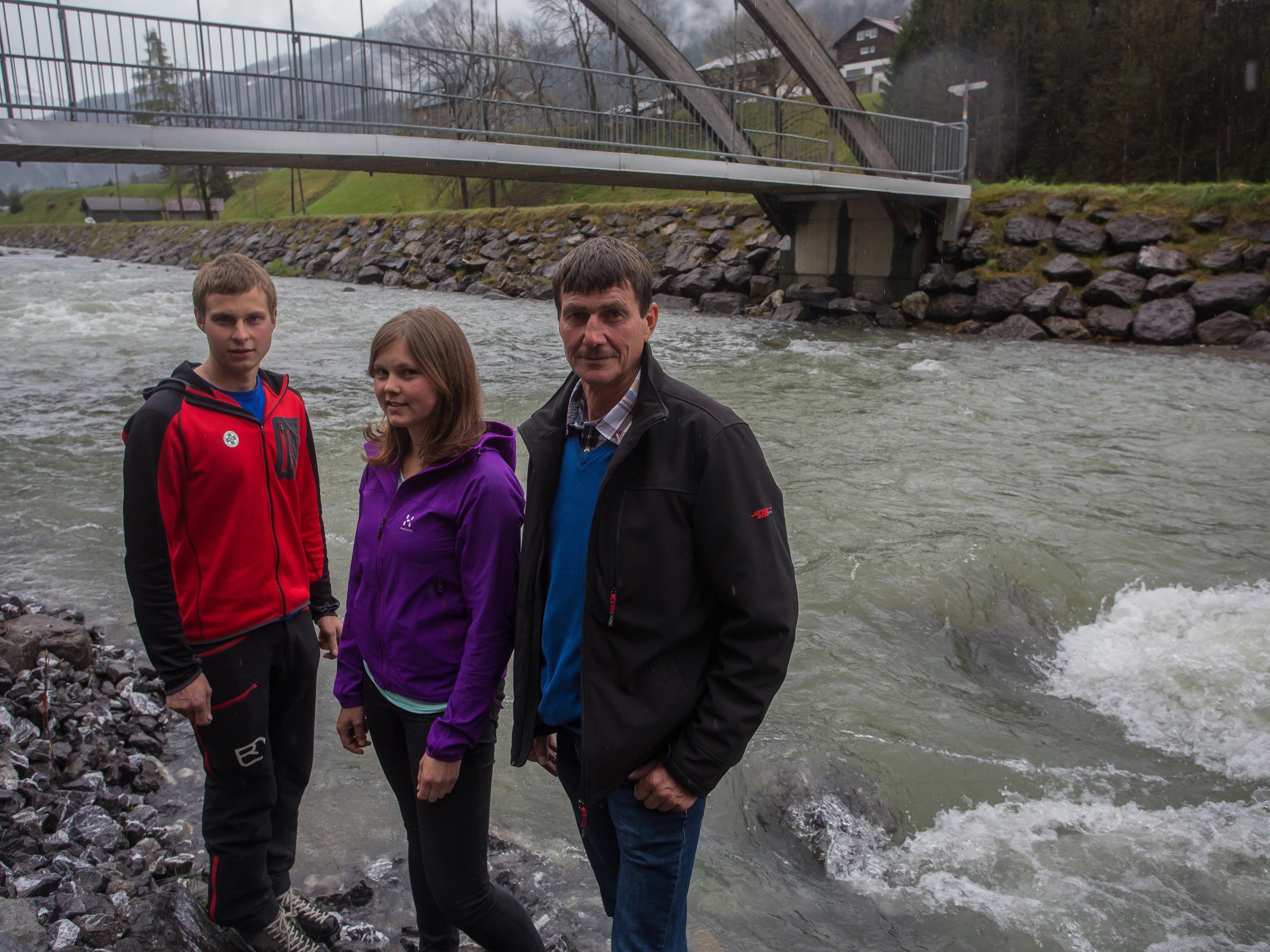 Johannes und Ulrike Sohm sowie Felix Albrecht bewiesen als Ersthelfer Mut.