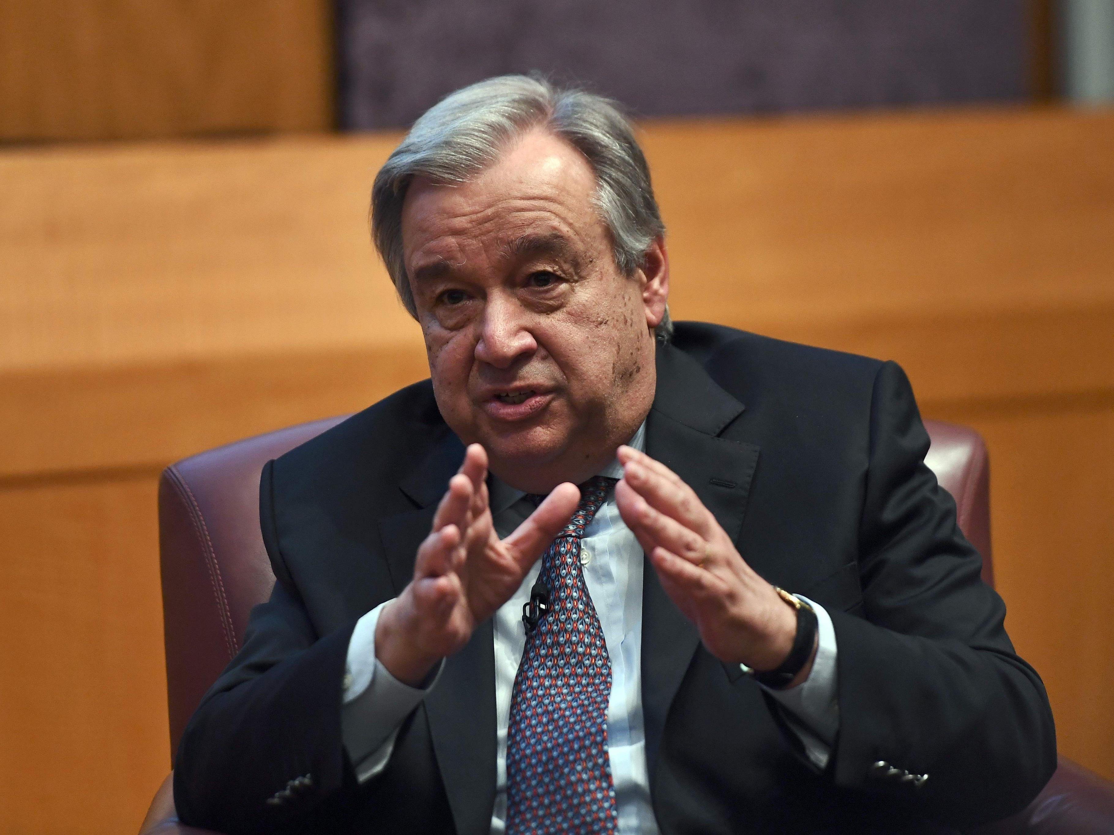 UN-Generalsekretär Antonio Guterres fordert die Umsetzung des Pariser Klimaschutzabkommens ein.