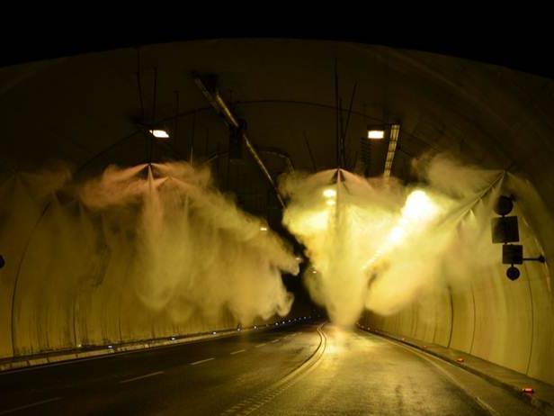 Sperre des Citytunnels bei Bregenz aufgrund notwendiger Wartungs- und Markierungsarbeiten.